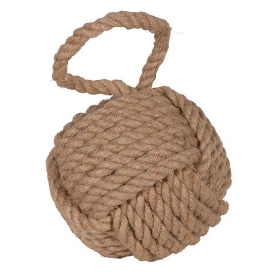 Nautical themed rope door stop.