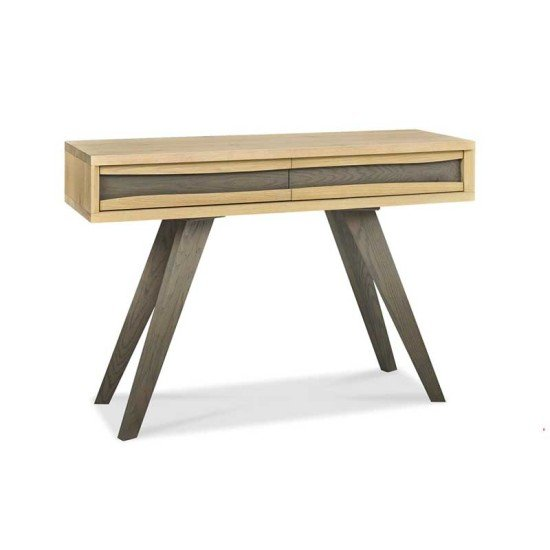 Cadell Aged Oak Console Table w/ Drawers