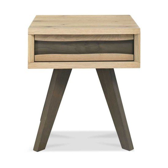 Cadell Aged Oak Lamp Table w/ Drawer