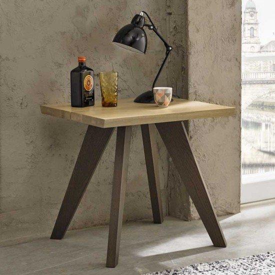 Cadell Aged Oak Lamp Table