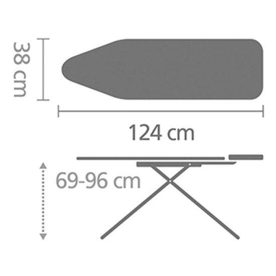 Brabantia Ironing Board B (124 x 38 cm)