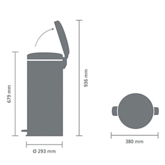 Brabantia Pedal Bin Newicon (30L)