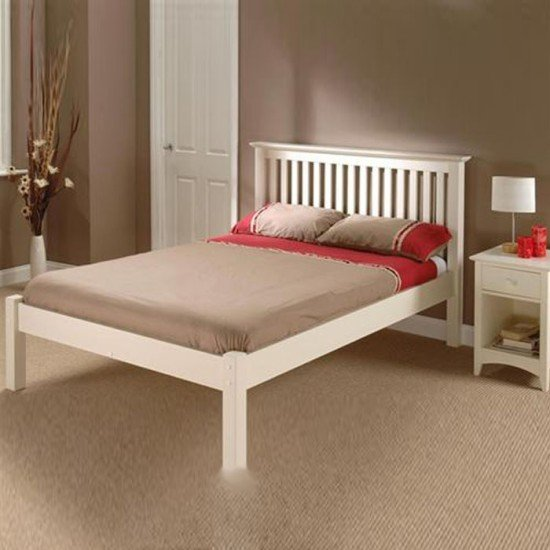 Barcelona Stone White Low Foot End Bedstead