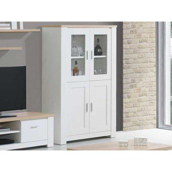 Florence Oak/White Bar Unit
