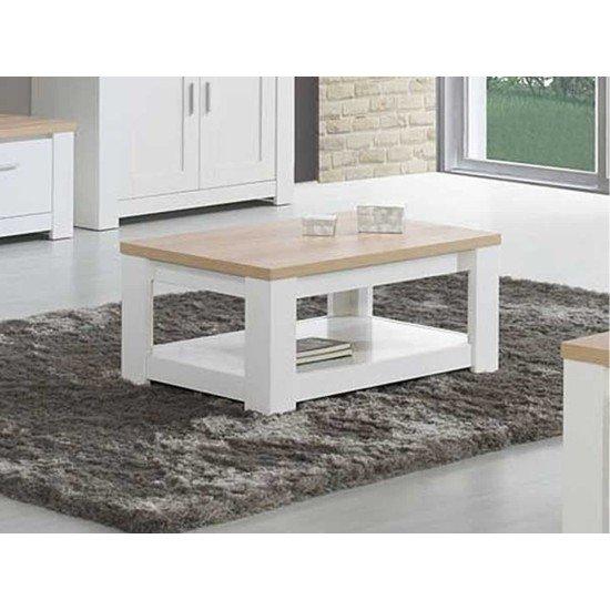 Florence Oak/White Coffee Table