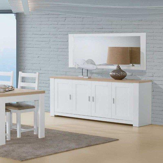 Florence Oak/White Sideboard