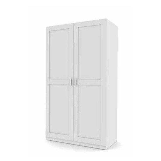 Florence Oak/White Wardrobe