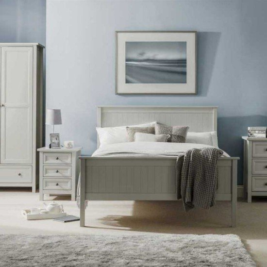 Maine Dove Grey Single Bed Set