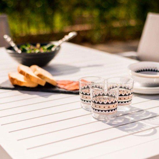 Amalfi 6 Seat Rectangular Dining Set - With Texteline Chairs