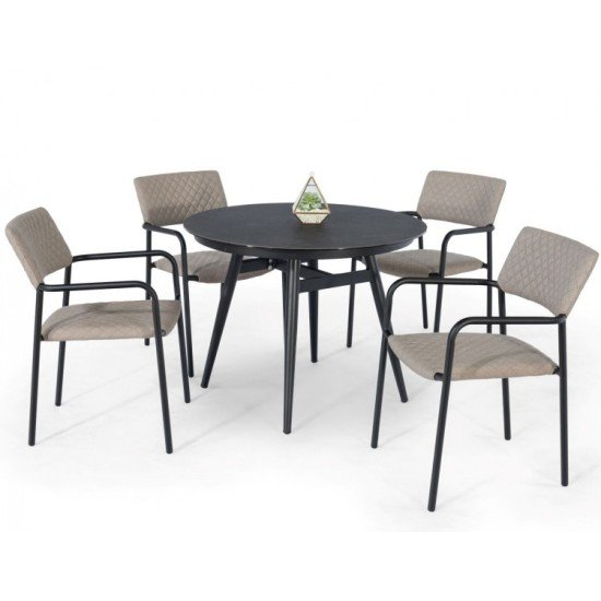 Bliss 4 Seat Round Dining Set