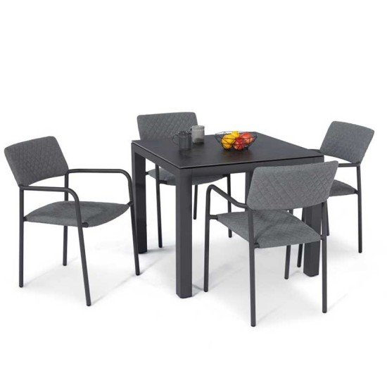 Bliss 4 Seat Square Dining Set