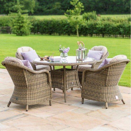 Harrogate Heritage 4 Seat Round Dining Set