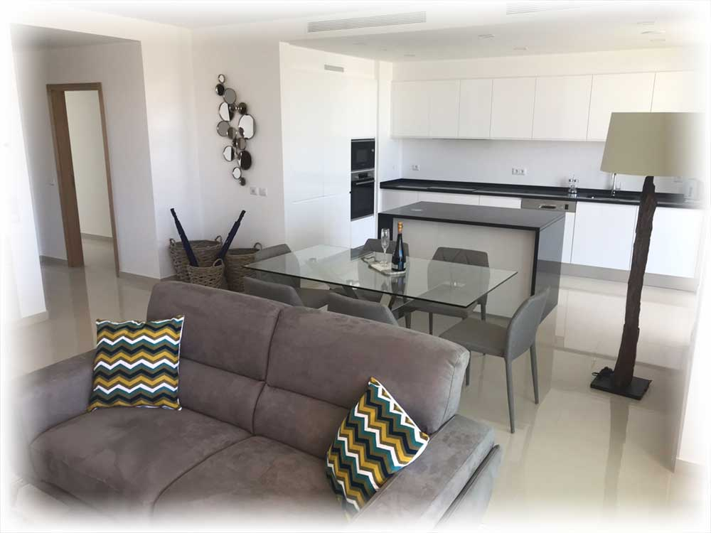Ancora Apartments Dining and Kitchen